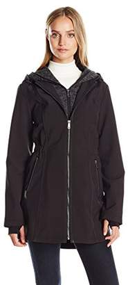 Nautica Women's Soft Shell with Bib/Hood $180 thestylecure.com