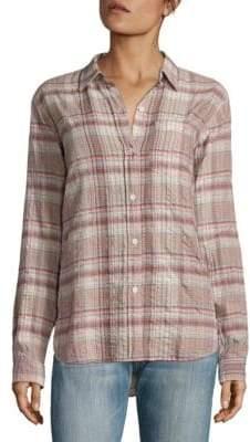 Current/Elliott The Modern Prep School Plaid Shirt
