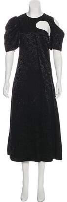 Celine Patterned Evening Dress