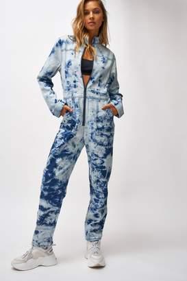 Jaded London Womens **Acid Wash Boiler Suit By Blue