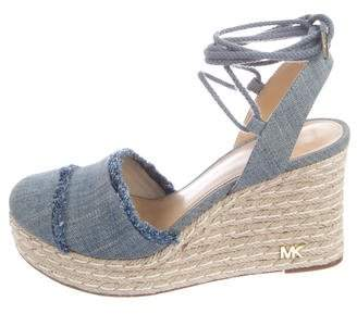 Michael Kors Denim Espadrilles Wedges