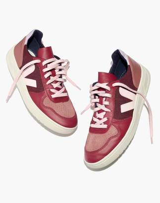 Madewell Veja V-10 Sneakers in Leather and Pixel