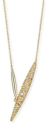 Alexis Bittar Crystal-Encrusted Modernist Spear Necklace $145 thestylecure.com