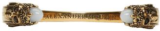 Alexander McQueen Gold Twin Skull & Snake Bracelet $445 thestylecure.com