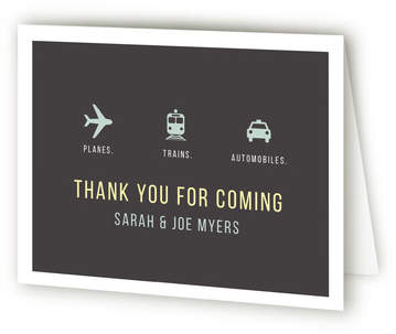 Planes Trains Automobiles Farewell Party Thank You Cards
