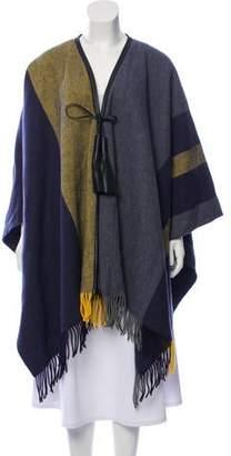 Hermes Rocabar Merino Wool Poncho w/ Tags