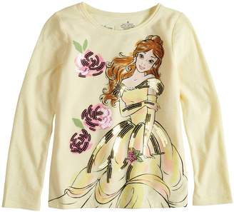 Disneyjumping Beans Disney's Beauty & The Beast Belle Toddler Girl Sequin Long Sleeve Graphic Tee by Disney/Jumping Beans