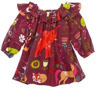 Masala Baby Anais Printed Dress - Red, Size 6-12m