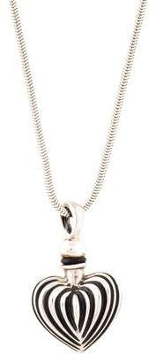Lagos Fluted Heart Perfume Bottle Pendant Necklace