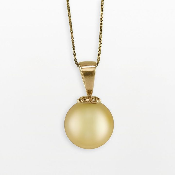 14k Gold Golden South Sea Cultured Pearl Pendant