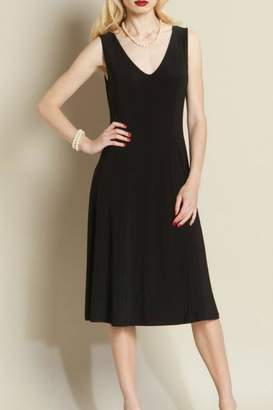 Clara Sunwoo Black V Neck Dress