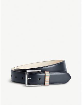 Paul Smith Signature stripe keeper leather belt