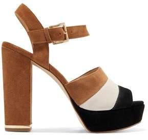 MICHAEL Michael Kors Color-Block Suede Platform Sandals