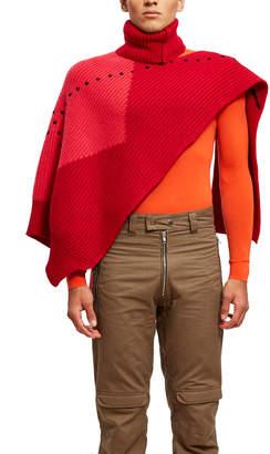 Raf Simons Jacquard Turtleneck Single Panel Sweater