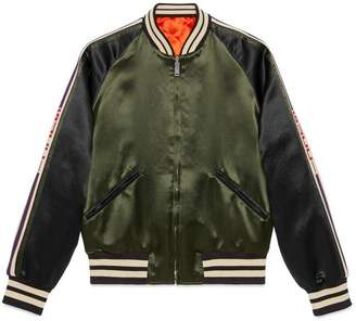 Gucci Acetate bomber with stripe