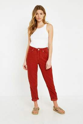 BDG Mom Red Corduroy Jeans