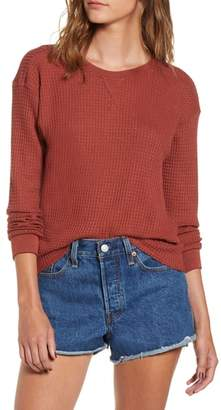 RVCA Cited Waffle Knit Pullover Top