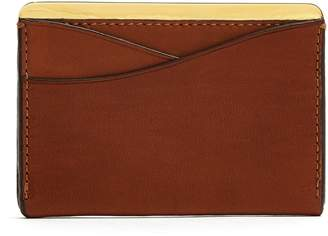 Lee PASSAVANT AND Gold-plated and leather cardholder