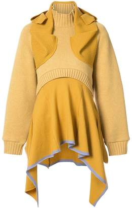 Undercover layered frilled sweater dress