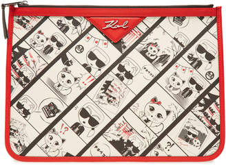 Karl Lagerfeld Pouch K/Tokyo Pouch with Leather