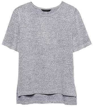 Banana Republic Petite Luxespun Boyfriend Tee with Side Slits