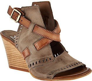 As Is Miz Mooz Leather Two Toned Block Wedges - Kipling $102.95 thestylecure.com