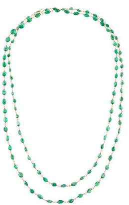 14K Emerald Beads Necklace