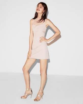 Express Sheer Pieced Mini Dress