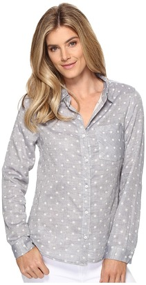 Dylan by True Grit - Double Cloth Dots Long Sleeve Blouse Women's Clothing $106 thestylecure.com
