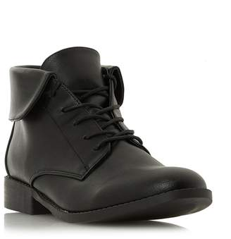 Head Over Heels by Dune - Black 'Petree' Block Heel Ankle Boots