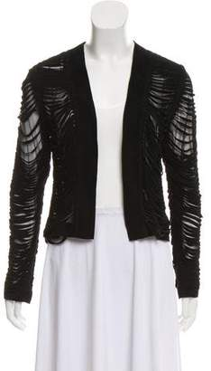 Alexis Leather Open-Front Jacket