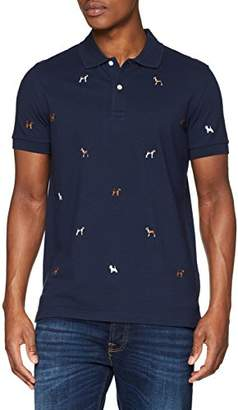 Brooks Brothers Men's Polo in Cotone Supima BLU Shirt, (Navy)