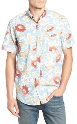 J.Crew Regular Fit Floral Print Sport Shirt