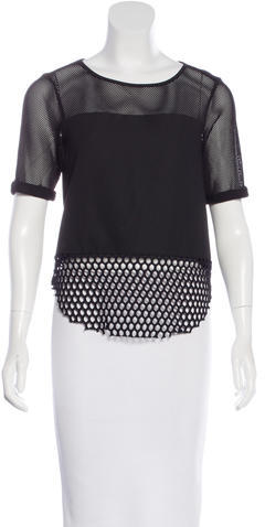 Elizabeth And James Elizabeth and James Laser Cut Short Sleeve Top