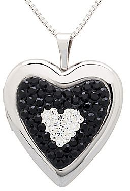 JCPenney Crystal Locket, Black and White
