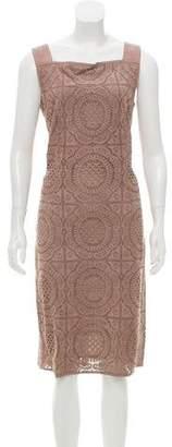 Burberry Laser Cut Suede Dress