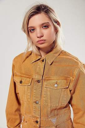 GUESS + UO Cropped Twill Jacket