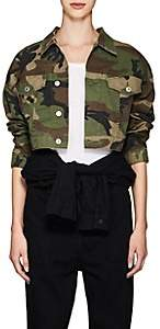 RE/DONE Women's Camouflage Crop Jacket