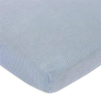 Gerber Crib Sheet - Navy and White Mini Stripe by