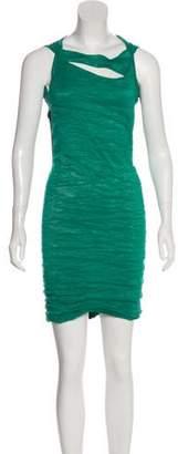 Yigal Azrouel Gathered Sleeveless Dress