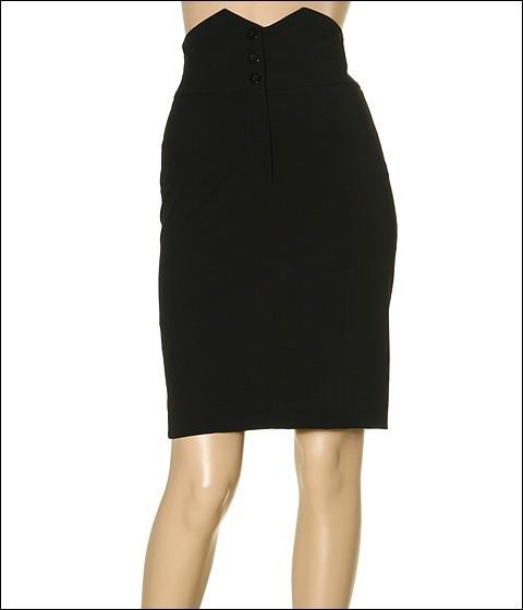 kensie - Soft Drapey High Waist Skirt (Black)