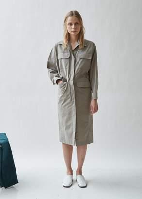 Seya Safari Cotton Button Front Dress