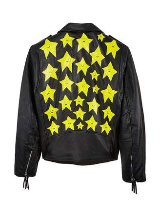 Church's PATRICK Hand-Painted Star Leather Moto Jacket - 100% Exclusive