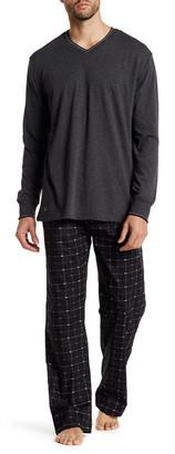 Lacoste Long Sleeve Shirt & Print Pant Set $68 thestylecure.com