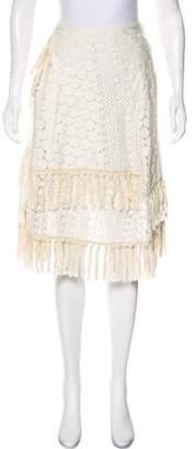 See by Chloe Crocheted Knee-Length Skirt