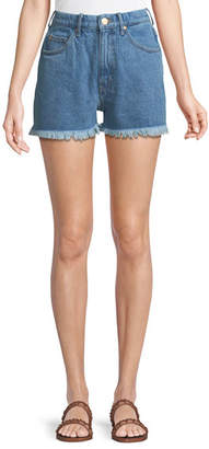 MiH Jeans Halsy High-Rise Cutoff Denim Shorts