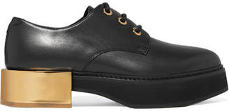 Alexander McQueen Leather Platform Brogues - Black