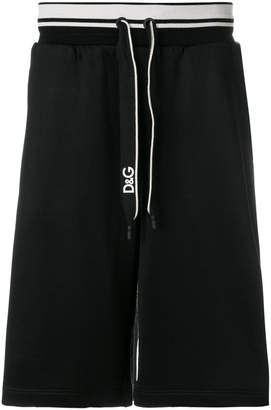 Dolce & Gabbana logo band track shorts