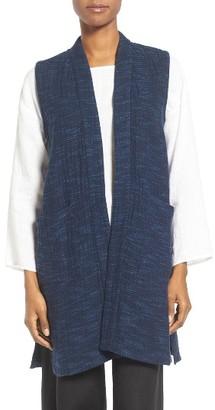 Women's Eileen Fisher Slubbed Cotton Vest $318 thestylecure.com