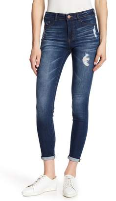 Jolt Distress Rolled Skinny Jeans